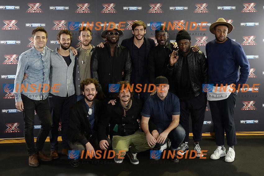 Db Milano 26/10/2016 - photocall trasmissione Tv 'X-Factor' / foto Daniele Buffa/Image/Insidefoto <br /> nella foto: Alvaro Soler-Soul System-Les Enfants-Daiana Lou