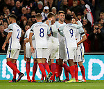 Gary Cahill of England celebrates his goal during the FIFA World Cup Qualifying Group F match at Wembley Stadium, London. Picture date: November 11th, 2016. Pic David Klein/Sportimage