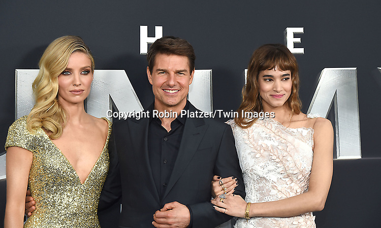Annabelle Wallis, Tom Cruise and Sofia Boutella attend &quot;The Mummy&quot; American Premiere on June 6, 2017 at the AMC Loews Lincoln Square in New York City,<br /> New York, USA. <br /> <br /> photo by Robin Platzer/Twin Images<br />  <br /> phone number 212-935-0770