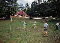 Ballwick Estate, Volleyball game with young children.