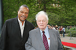 Billy Dee Williams (Night Shift) poses with Charles Durning at the Gala Awards Ceremony of the 2008 Hoboken International Film Festival which concluded  with Billy Dee Williams being presented the Lifetime Achievement Award and then nominees and winners were announced on June 5, 2008 at Pier A Park, Hoboken, New Jersey.  (Photo by Sue Coflin/Max Photos)