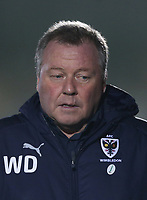 AFC Wimbledon manager Wally Downes<br /> <br /> Photographer Rob Newell/CameraSport<br /> <br /> Emirates FA Cup Fourth Round - AFC Wimbledon v West Ham United - Saturday 26th January 2019 - Kingsmeadow Stadium - London<br />  <br /> World Copyright © 2019 CameraSport. All rights reserved. 43 Linden Ave. Countesthorpe. Leicester. England. LE8 5PG - Tel: +44 (0) 116 277 4147 - admin@camerasport.com - www.camerasport.com