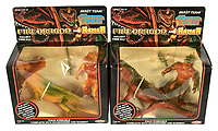 BNPS.co.uk (01202 558833)<br /> Pic: Vectis/BNPS<br /> <br /> PICTURED:  Beast Team - The Warrior Beasts Fire Dragon & Ramar<br /> <br /> One man's epic collection of retro eighties' toys has been sold for £220,000 by his family following his death.<br /> <br /> Dr Cornel Flemming amassed more than 1,600 toy action figures and cars for franchises like Star Wars, He-Man and Transformers. <br /> <br /> The market for nostalgic toys is booming at the moment which is reflected in the prices some of the toys achieved.<br /> <br /> An unopened pack of three He-Man figures featuring He-Man, Teela and Ram Man made by Mettel sold for an incredible £12,000.