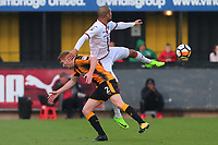 Ross Lafayette of Sutton tangles with Brad Halliday of Cambridge during Cambridge United vs Sutton United , Emirates FA Cup Football at the Cambs Glass Stadium on 5th November 2017