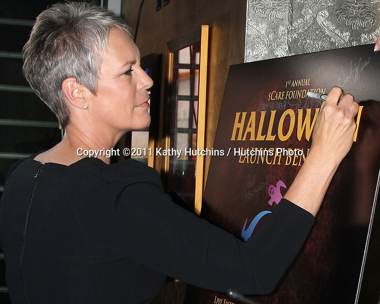 LOS ANGELES - OCT 30:  Jamie Lee Curtis at the sCare Foundation Halloween Launch Benefit at Conga Room @ LA Live on October 30, 2011 in Los Angeles, CA