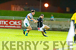 Mike Foley, East Kerry in action against Patrick O'Connor, Dingle during the Quarter finals of the Kerry Senior GAA Football Championship at Austin Stack Park on Saturday night.