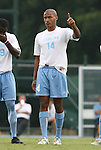 31 August 2008: UNC's Jordan Graye. The University of North Carolina Tar Heels defeated the Virginia Commonwealth University Rams 1-0 in overtime at Fetzer Field in Chapel Hill, North Carolina in an NCAA Division I Men's college soccer game.
