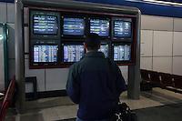 Roma, 23 Gennaio 2006. Sciopero lavoratori Alitalia