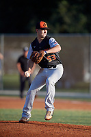 Noah Weston (53) during the WWBA World Championship at the Roger Dean Complex on October 13, 2019 in Jupiter, Florida.  Noah Weston attends Cuthbertson High School in Waxhaw, NC and is committed to Princeton.  (Mike Janes/Four Seam Images)