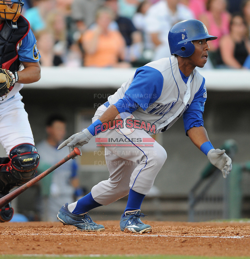 July 7, 2008: Infielder Josh Johnson (15) of the Wilmington Blue Rocks, Class A affiliate of the Kansas City Royals, in a game against the Myrtle Beach Pelicans at BB&T Coastal Field in Myrtle Beach, S.C. Photo by:  Tom Priddy/Four Seam Image