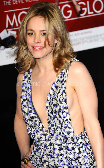 WWW.ACEPIXS.COM . . . . .  ..... . . . . US SALES ONLY . . . . .....January 11 2011, London....Actress Rachel McAdams arriving at the UK premiere of Morning Glory held at The Empire Leicester Square on January 11, 2011 in London, England.....Please byline: FAMOUS-ACE PICTURES... . . . .  ....Ace Pictures, Inc:  ..tel: (212) 243 8787 or (646) 769 0430..e-mail: info@acepixs.com..web: http://www.acepixs.com