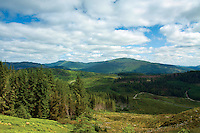 Ben Ledi above The Duke's Pass near Aberfoyle, Loch Lomond and The Trossachs National Park, Stirlingshire