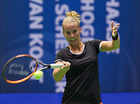 Rotterdam, Netherlands, December 19, 2015,  Topsport Centrum, Lotto NK Tennis, Richel Hogenkamp (NED)<br /> Photo: Tennisimages/Henk Koster