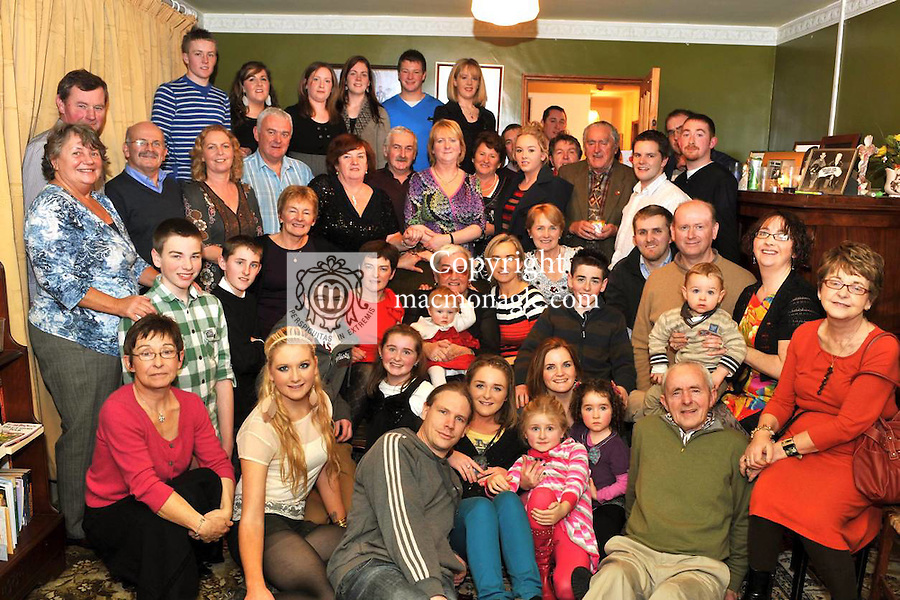 Margaret Twomey from Ballymacelligott, Tralee who celebrated her 80th birthday surrounded by family and friends during Christmas week..Picture by Don MacMonagle