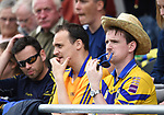 A worried looking Clare fan at half time during their Senior quarter final against Tipperary at Pairc Ui Chaoimh. Photograph by John Kelly.