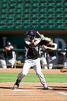 Dom Nunez (19) of the Grand Junction Rockies at bat against the Ogden Raptors on June 19, 2014 at Lindquist Field in Ogden, Utah. (Stephen Smith/Four Seam Images)