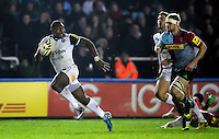 Semesa Rokoduguni of Bath Rugby runs in a second half try. Aviva Premiership match, between Harlequins and Bath Rugby on March 11, 2016 at the Twickenham Stoop in London, England. Photo by: Patrick Khachfe / Onside Images