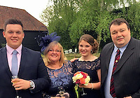 "Pictured L-R: Undated family handout of Tom Owen, with mother Kim Owen, sister Katie and father Martin. <br /> Re: South Wales Police and the Health and Safety Executive have launched a joint investigation into the circumstances surrounding an incident in which a 21 year-old employee of Western Power died whilst working in the Llanrumney area yesterday (Monday, 30th January, 2017).<br />  Police and paramedics were called to Clevedon Road at 12.20pm where the man was believed to have been electrocuted whilst carrying out utility works in the area.<br />  Tom Owen, from Efail Isaf near Pontypridd was taken to the University Hospital of Wales where he was pronounced deceased.<br />  His family has issued the following statement: ""We are absolutely devastated by the tragic death of our son.  He is our world. We are incredibly proud of the young man that he had become and can't imagine life without him.<br />  ""He had so much of life ahead of him which he looked forward to sharing with his friends from Beddau Rugby Club, work mates and his girlfriend Grace. He will be sorely missed by everyone that knew him.""<br />  His family are being supported by specially trained family liaison officers from South Wales Police and have asked that they be allowed the privacy to come to terms with their tragic loss."