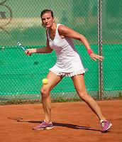 Netherlands, Amstelveen, August 22, 2015, Tennis,  National Veteran Championships, NVK, TV de Kegel,  Lady's 35+,  Linda Sentis<br /> Photo: Tennisimages/Henk Koster