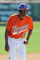 Clemson outfielder Chris Epps (26) prior to a game between the Clemson Tigers and Mercer Bears on Feb. 23, 2008, at Doug Kingsmore Stadium in Clemson, S.C. Photo by: Tom Priddy/Four Seam Images