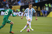 Seattle, WA - Tuesday June 14, 2016: Lucas Biglia during a Copa America Centenario Group D match between Argentina (ARG) and Bolivia (BOL) at CenturyLink Field.