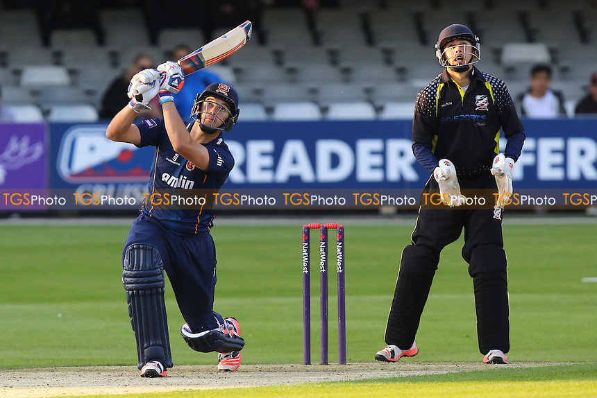 Nick Browne in batting action for Essex as Saf Imtiaz looks on - Essex Eagles vs Essex Premier Leagues XI - T20 Cricket Friendly Match at the Essex County Ground, Chelmsford, Essex - 13/05/15 - MANDATORY CREDIT: Gavin Ellis/TGSPHOTO - Self billing applies where appropriate - contact@tgsphoto.co.uk - NO UNPAID USE