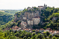 France, Rocamadour.  A popular destination for pilgrims and tourists.