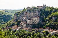 France, Rocamadour.  A popular destination for pilgrims and tourists.