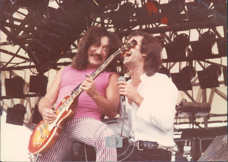 Uriah Heep, Mick Box, Pete Goalby, Castle Donnington Monsters of Rock 1982 Donnington 1982