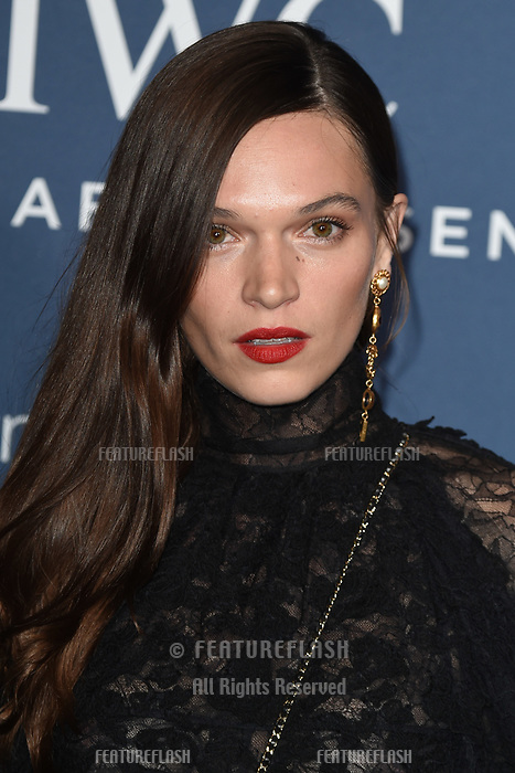 LONDON, UK. October 09, 2018: Anna Brewster arriving for the 2018 IWC Schaffhausen Gala Dinner in Honour of the BFI at the Electric Light Station, London.<br /> Picture: Steve Vas/Featureflash