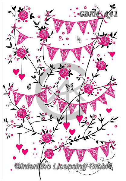 Kate,Valentine, paintings+++++Valentine bunting,GBKM441,#v#, EVERYDAY