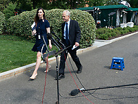 Director of the White House National Trade Council Peter Navarro returns to the White House in Washi