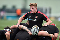 Matthew Screech of the Dragons in action during the pre-match warm-up. Pre-season friendly match, between Ealing Trailfinders and the Dragons on August 11, 2018 at the Trailfinders Sports Ground in London, England. Photo by: Patrick Khachfe / Onside Images
