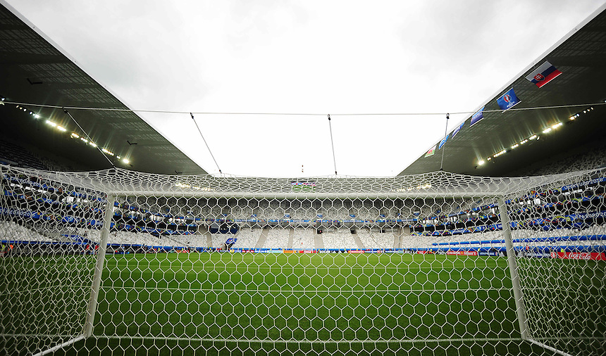 A general view of the Nouveau Stade de Bordeaux, Bordeaux<br /> <br /> Photographer Kevin Barnes/CameraSport<br /> <br /> International Football - 2016 UEFA European Championship - Group B - Wales v Slovakia - Saturday 11th June 2016 - Nouveau Stade de Bordeaux, Bordeaux<br /> <br /> World Copyright &copy; 2016 CameraSport. All rights reserved. 43 Linden Ave. Countesthorpe. Leicester. England. LE8 5PG - Tel: +44 (0) 116 277 4147 - admin@camerasport.com - www.camerasport.com