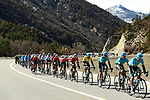 The peleton with Astana Pro Team and race leader Yellow Jersey Luis Leon Sanchez (ESP) on the front during Stage 6 running 198km from Sisteron to Vence, France. 9th March 2018.<br /> Picture: ASO/Alex Broadway | Cyclefile<br /> <br /> <br /> All photos usage must carry mandatory copyright credit (&copy; Cyclefile | ASO/Alex Broadway)