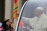 Pope Francis is seen with the pilgrims from all over the world at the double canonisation of late Popes John Paul II and John XXIII presided over by Pontiffs Pope Francis and his elderly predecessor Benedict XVI at St Peter's square in Rome.