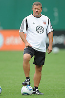 D.C. United assistant coach Chad Ashton.  File photo RFK stadium 2011 season.