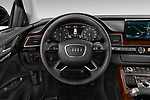 Car pictures of steering wheel view of a 2015 Audi A8 3.0T LWB quattro tiptronic 4 Door Sedan