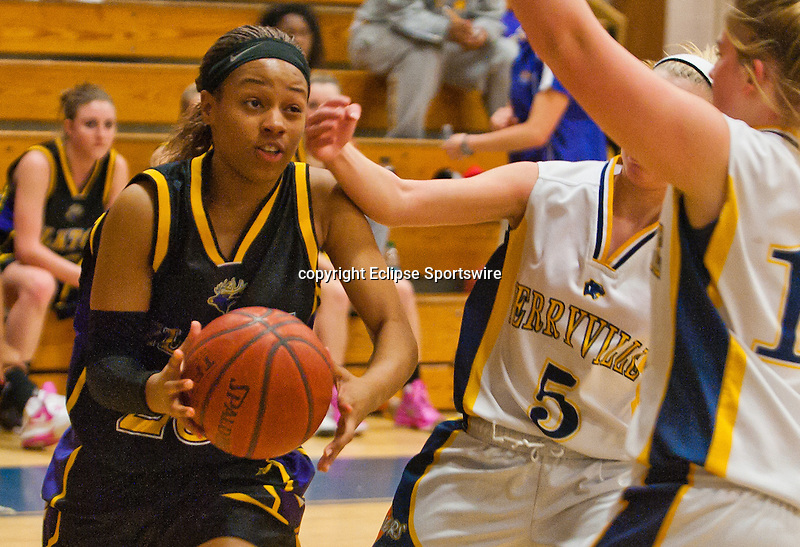Scenes from the Elkton versus Perryville Girls Basketball game at Perryville High School in Perryville, Maryland