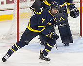 Jonathan Lashyn (Merrimack - 7) - The visiting Merrimack College Warriors defeated the Boston College Eagles 6 - 3 (EN) on Friday, February 10, 2017, at Kelley Rink in Conte Forum in Chestnut Hill, Massachusetts.