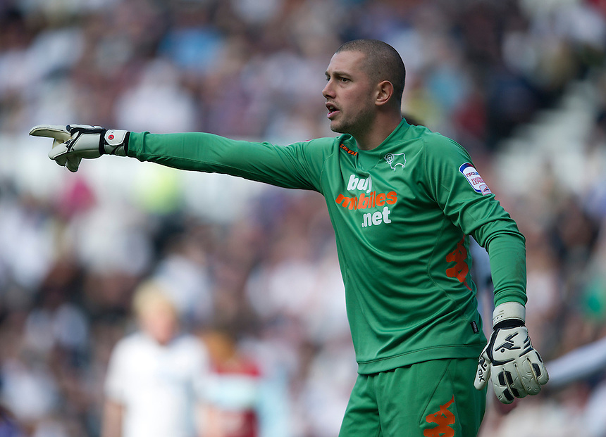Derby County's Frank Fielding ..Football - npower Football League Championship - Derby County v Burnley - Saturday 22nd September 2012 - Pride Park - Derby..
