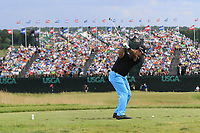 Hideki Matsuyama (JPN) tees off the par3 9th tee during Saturday's Round 3 of the 117th U.S. Open Championship 2017 held at Erin Hills, Erin, Wisconsin, USA. 17th June 2017.<br /> Picture: Eoin Clarke | Golffile<br /> <br /> <br /> All photos usage must carry mandatory copyright credit (&copy; Golffile | Eoin Clarke)
