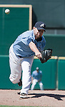 Aces relief pitcher Mike DeMark throws during the Tucson Padres game played on Sunday afternoon June 17, 2012 at Aces Ballpark in Reno, NV.