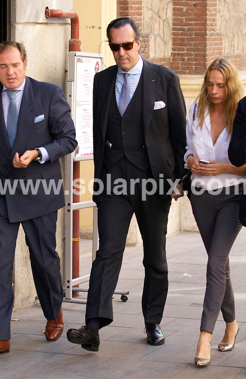 **EXCLUSIVE PICTURES FROM SOLARPIX.COM**                                             **WORLDWIDE SYNDICATION RIGHTS EXCEPT SPAIN - NO SYNDICATION IN SPAIN**                                                                                  Caption: Princess of Asturias Letizia Ortiz  went out in Madrid for lunch where she bumped into Jaime de Marichalar the former husband of the Infanta Elena, Duchess of Lugo, the eldest daughter of King Juan Carlos  .She left the restaurant looking embarrassed by the encounter.                                                                         This pic:Jaime de Marichalar                                                                                             JOB REF:14068        DGM       DATE: 29.09.2011                                                           **MUST CREDIT SOLARPIX.COM OR DOUBLE FEE WILL BE CHARGED**                                                                      **MUST AGREE FEE BEFORE ONLINE USAGE**                               **CALL US ON: +34 952 811 768 or LOW RATE FROM UK 0844 617 7637**