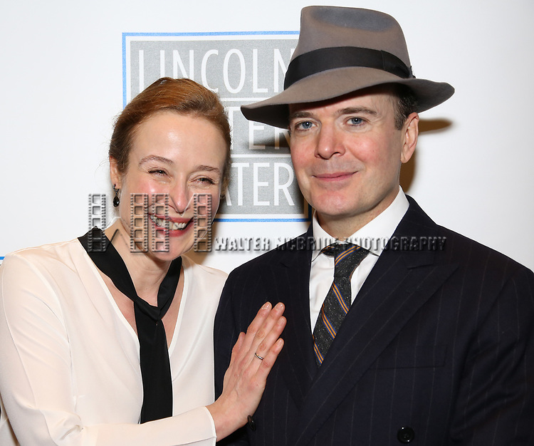 attends the Opening Night Performance press reception for the Lincoln Center Theater production of 'Oslo' at the Vivian Beaumont Theater on April 13, 2017 in New York City.