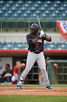 Jupiter Hammerheads Lazaro Alonso (44) at bat during a Florida State League game against the Florida Fire Frogs on April 8, 2019 at Osceola County Stadium in Kissimmee, Florida.  Florida defeated Jupiter 7-6 in ten innings.  (Mike Janes/Four Seam Images)
