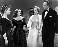 All About Eve (1950)<br /> Anne Baxter, Bette Davis, George Sanders &amp; Marilyn Monroe<br /> *Filmstill - Editorial Use Only*<br /> CAP/KFS<br /> Image supplied by Capital Pictures