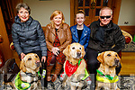 Judy Pheysey and Vaughan, Shirley, Clodagh and John Shanaghan and Vasco and Dante (Guide Dogs) attending the Puppy Love -Valentine's Fundraising Dance in aid of the Irish Guide Dogs for the Blind in the Meadowlands Hotel on Friday night.