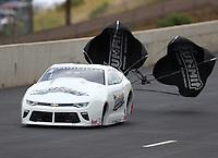 Jul 22, 2017; Morrison, CO, USA; NHRA pro stock driver Bo Butner during qualifying for the Mile High Nationals at Bandimere Speedway. Mandatory Credit: Mark J. Rebilas-USA TODAY Sports