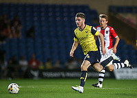 Dan Crowley of Oxford United on the attack during the The Checkatrade Trophy match between Oxford United and Exeter City at the Kassam Stadium, Oxford, England on 30 August 2016. Photo by Andy Rowland / PRiME Media Images.